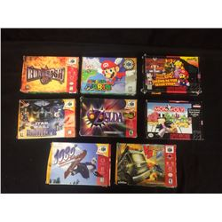 EMPTY BOXES VIDEO GAME LOT (SNES, 64 & MORE...)