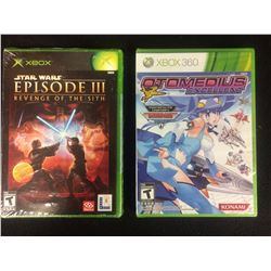 XBOX & XBOX 360 VIDEO GAME LOT (STAR WARS EPISODE 3, OTOMEDIUS)