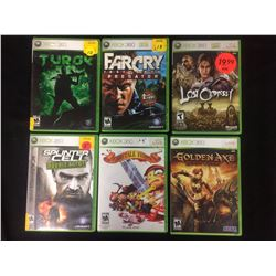XBOX 360 VIDEO GAME LOT (SPLINTER CELL, FARCRY, GOLDEN AXE & MORE...)