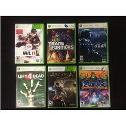 XBOX 360 VIDEO GAME LOT (TRANSFORMERS, NHL 11, LEFT 4 DEAD)