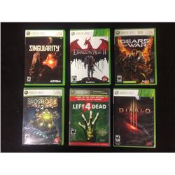 XBOX 360 VIDEO GAME LOT (SINGULARITY, GEARS OF WAR, DIABLO & MORE...)