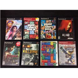PLAY STATION 2 VIDEO GAME LOT (KILL ZONE, PRIMAL, GRAND THEFT AUTO)