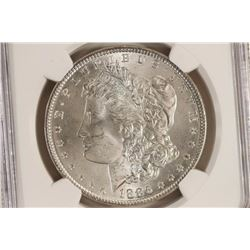 1886 MORGAN SILVER DOLLAR NGC MS64 OLATHE