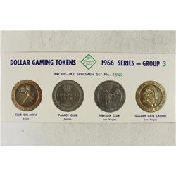 1966 FRANKLIN MINT DOLLAR GAMING TOKENS GROUP 3