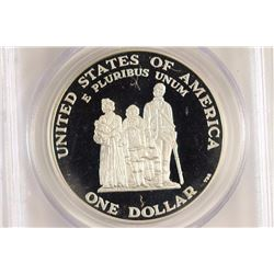 1998-S CRISPUS ATTUCKS COMMEMORATIVE SILVER $