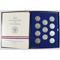 AMERICA'S 1ST MEDALS SET OF 11 PEWTER ROUNDS