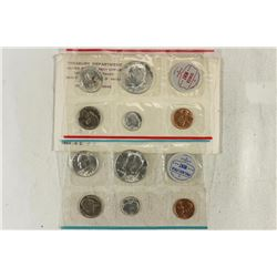 SILVER 1964 US MINT SET (UNC) P/D (WITH ENVELOPE)