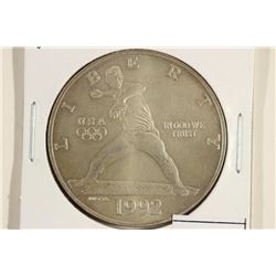1992-D US OLYMPICS COMMEMORATIVE UNC SILVER DOLLAR