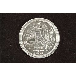 2014 ISLE OF MAN 1 OZ. FINE SILVER ANGEL COIN