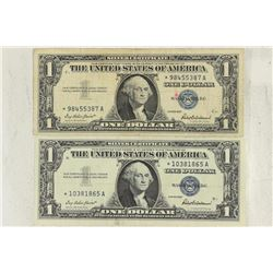 2-1957 $1 SILVER CERTIFICATES STAR NOTES
