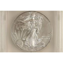 2012 AMERICAN SILVER EAGLE ICG MS70 1ST DAY OF
