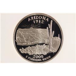 2008-S ARIZONA QUARTER NGC PF70 ULTRA CAMEO