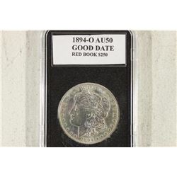 1894-O MORGAN SILVER DOLLAR DONT BELIEVE SLAB