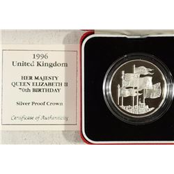 1996 UNITED KINGDOM SILVER PROOF CROWN