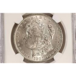 1883-O MORGAN SILVER DOLLAR NGC MS63 OLATHE