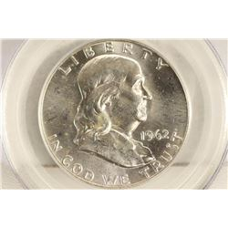 1962-D FRANKLIN HALF DOLLAR PCGS MS64