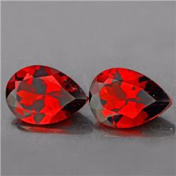 Natural Mozambique Garnet Pair 10 x 7 MM - VVS