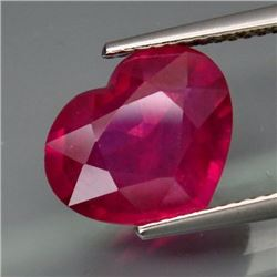 Natural Pinkish Red Ruby Mozambique HEART 5.20 Cts