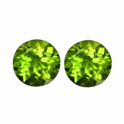 Natural Peridot Pair 5.60 cts - VVS
