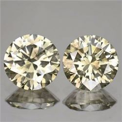 Natural Champagne Diamond Matching Pair 1.04 cts