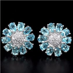 Natural Swiss Topaz Earrings
