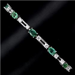 Natural Green Emerald 58.28 Carats Bracelet