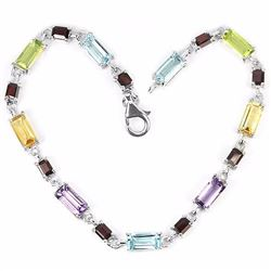 Natural Multi Gemstone 39 Carats Bracelet