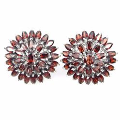 Natural Mozambique Garnet 54 Carats Earrings