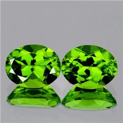 Natural AAA Green Peridot Pair 9x7 MM -VVS