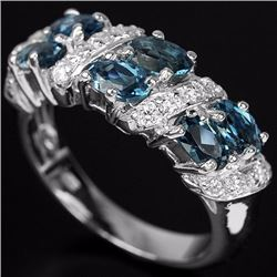 Natural London Blue Topaz 26 Carats Ring
