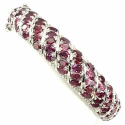 NATURAL  RASPBERRY RHODOLITE GARNET BANGLE