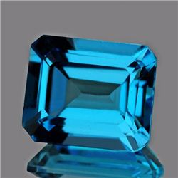 Natural AAA Swiss Blue Topaz 10 x 8 MM - VVS