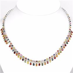 Natural Fancy Sapphire 175 Carats Necklace