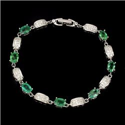 Natural Green Emerald 59 carats Bracelet