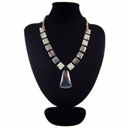 Natural MultiColor Pietersite Diamond Polished Necklace