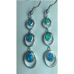 Full Fire Ethopian Opal Earrings