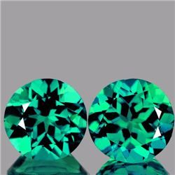 Natural Paraiba Gren Apatite Pair 3.21 Cts - Flawless