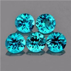 Natural Brazil Blue Apatite 4.20 MM (Flawless-VVS1)