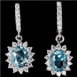 Natural London Topaz Earrings
