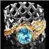 Image 1 : Natural Swiss Blue Topaz Stylish Ring