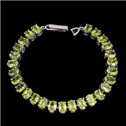 Natural  Top Rich Green Peridot 117 Carats Bracelet