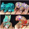 Image 1 : Hand Carved Colorful Calsilica Gemstone 4 Animals