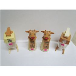2 Cow Creamers and 2 sugar containers