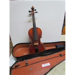 Violin with Case and Bow