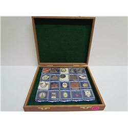 Case of assorted 20 Collector Pins