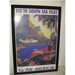 large Pan-Am airlines advertising poster