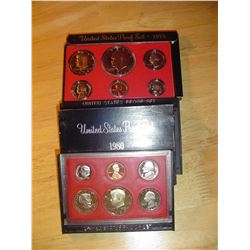 1974 and 1980 US proof sets