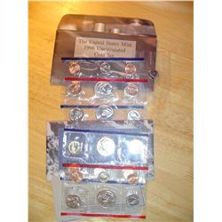 1996 and 97 US uncirculated coin sets both P+D mints