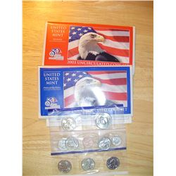 2003 US uncirculated coin set with quarters P + D mints