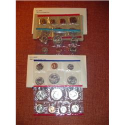 1980 and 81 US uncirculated coin sets both P+D mints